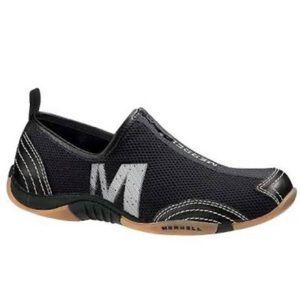 Merrell Barrado Leather Mesh Slip-on Zip Up Sz 7